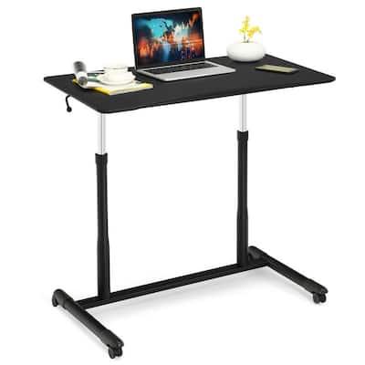 37.5 in Rectangle Black Wood Computer Desk