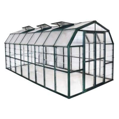 Grand Gardener Clear 8 ft. x 16 ft. Greenhouse