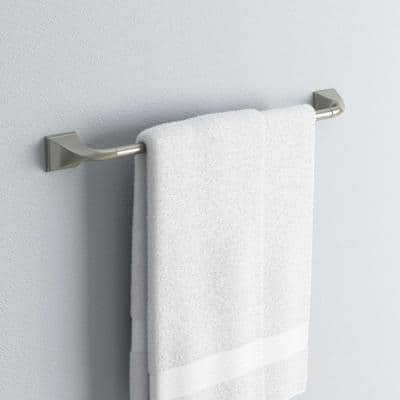 Everly 24 in. Towel Bar in SpotShield Brushed Nickel