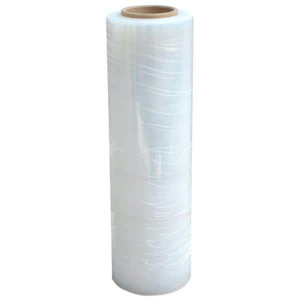 """Extended Core Pallet Yellow Plastic Wrap for Moving 20/"""" x 1000/' x 80 Gauge 16"""