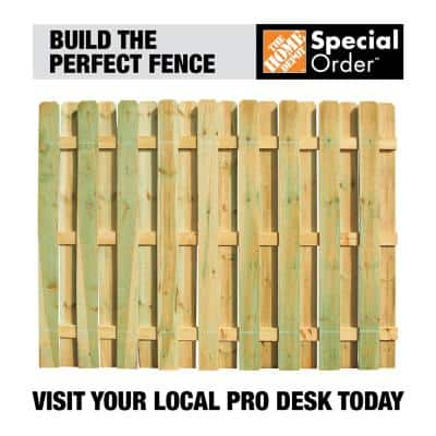 4 in. x 4 in. x 5-1/3 ft. Pressure-Treated Pine 2-Hole Fence End Post