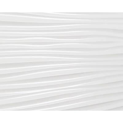 18.5 in. x 24.3 in. Wilderness Decorative 3D PVC Backsplash Panels in White 12-Pieces
