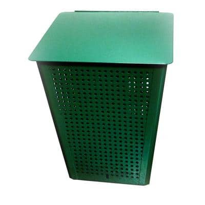 Pet Station Aluminum Trash Receptacle with Lid
