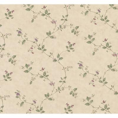 Ree Beige Mini Floral Trail Strippable Wallpaper (Covers 56.4 sq. ft.)