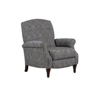 Ramesy 32 in. Width Big and Tall Blue/Gray Chenille 3 Position Recliner