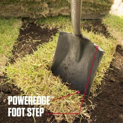 PowerEdge 48.75 in. Fiberglass Handle Square Point Shovel