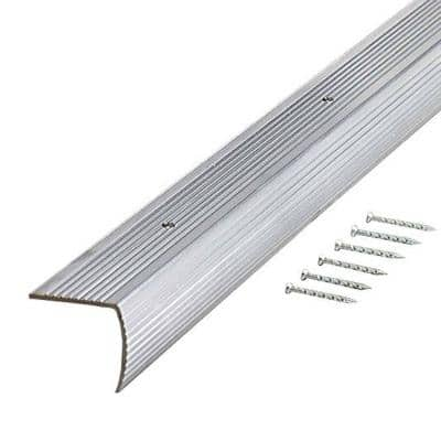 Polished M-D Building Products 67215 Smooth 1-1//8-Inch by 1-1//8-Inch by 96-Inch Stair Edging