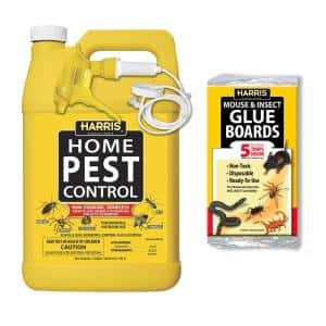 1 Gal. Home Pest Spray and Pest Glue Board (5-Pack)