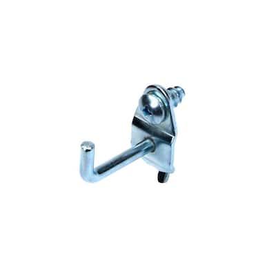 1-1/8 in. Single Rod 90 Degree Bend 3/16 in. Dia Zinc Plated Steel Pegboard Hook (10-Pack)