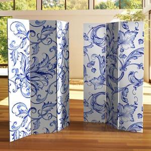 6 ft. Filigree Printed 3-Panel Room Divider