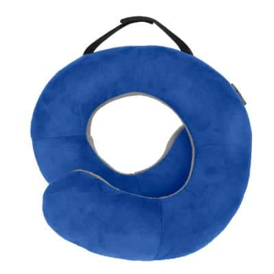 Deluxe Cobalt Blue and Gray Wrap N Rest Pillow