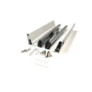16 in. White Soft Close Full Extension Double Wall Lower Drawer Set (1-Pair)