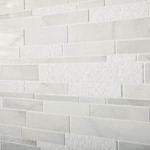 Stone Decor Glacier 12 in. x 14 in. x 10 mm Marble Linear Mosaic Floor and Wall Tile (1 sq. ft./ Each)
