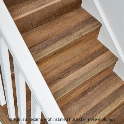 Natural Oak Grey 7 mm Thick x 2 in. Wide x 94 in. Length Coordinating Vinyl Stair Nose Molding