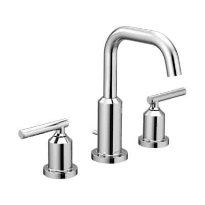 Gibson 8 in. Widespread 2-Handle High-Arc Bathroom Faucet Trim Kit in Chrome (Valve Not Included)