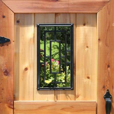 17-1/4 in. x 8-5/8 in. Rectangular Wrought Iron Insert for Wooden Gate