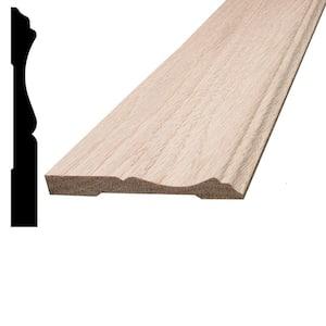 7/16 in. x 3-1/4 in. x 96 in. Oak Wood Baseboard Moulding