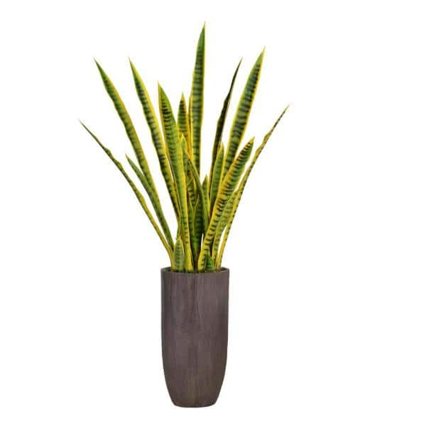 Vintage Home 58 25 In Tall Snake Plant Sansevieria Artificial Lifelike Faux In Resin Planter Vhx121224 The Home Depot