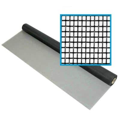 60 in. x 100 ft. Fiberglass Window Screen Mesh, Porch and Window Screen Replacement, Window Screen Roll (Black)