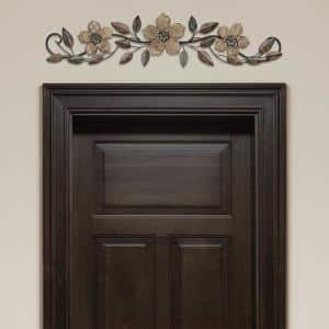 Floral Patterned Wood Over the Door Wall Decor