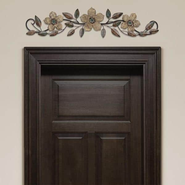 Stratton Home Decor Floral Patterned Wood Over The Door Wall S01207 Depot