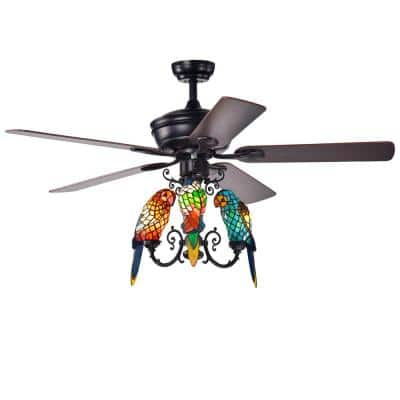 Korubo 52 in. Bronze Indoor Remote Controlled Ceiling Fan with Light Kit