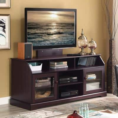 Alessia 20 in. Tobacco Wood TV Stand Fits TVs Up to 55 in.