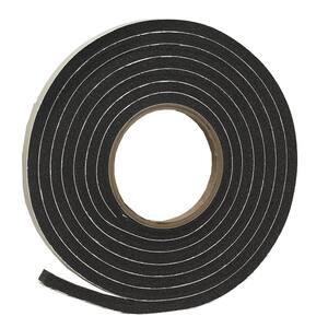 3/8 in. x 5/16 in. x 10 ft. Black Rubber Foam Weatherseal Tape