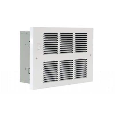 Small In-Wall Hydronic 6000/7600 BTU with Aqua Switch and Fan Switch in White