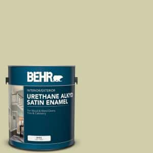 Behr 1 Gal S340 3 Hybrid Urethane Alkyd Satin Enamel Interior Exterior Paint 790001 The Home Depot
