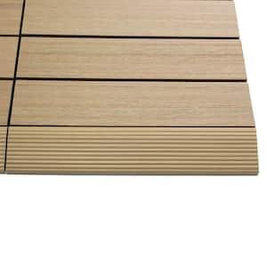 1/6 ft. x 1 ft. Quick Deck Composite Deck Tile Straight Fascia in Canadian Maple (4-Pieces/Box)