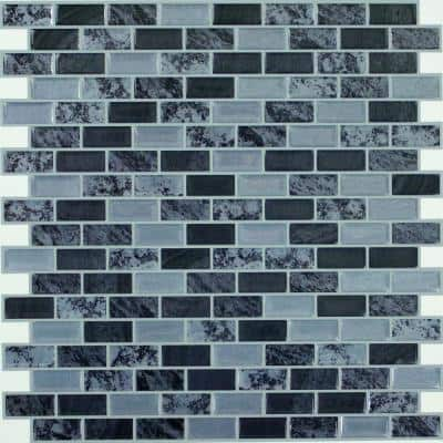 10.5 in x 10.5 in Traditional Marble Tile Peel and Stick Backsplash