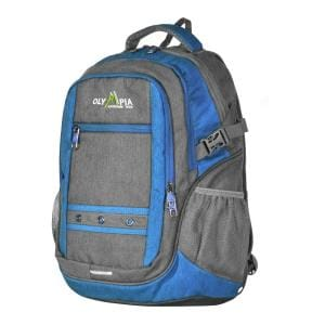 Deals on Olympia USA Eagle 25L 19 in Gray and Blue Outdoor Backpack