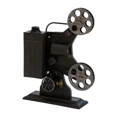 Black Metal Vintage Camera Sculpture