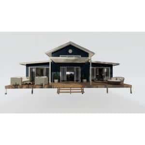 Bangalow Ultimate 1,384 sq. ft. 2 Bedroom Plus Loft Tiny Home Steel Framing Kit with flooring system and front deck