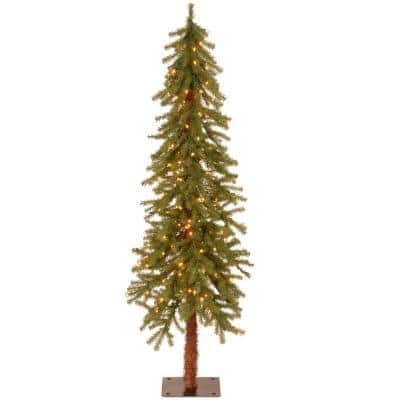 5 ft. Hickory Cedar Artificial Christmas Tree with Clear Lights