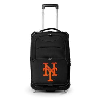 MLB New York Mets 21 in. Black Carry-On Rolling Softside Suitcase