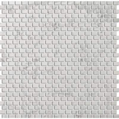 Marble Bianco Gioia Honed 12.01 in. x 12.05 in. x 10 mm Marble Mesh-Mounted Mosaic Tile (1 sq. ft.)