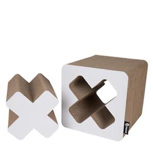 Large White Treasure Cardboard Cat Scratcher