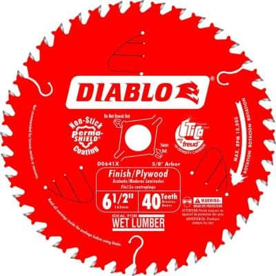 6-1/2 in. x 40-Teeth Finish/Plywood Saw Blade