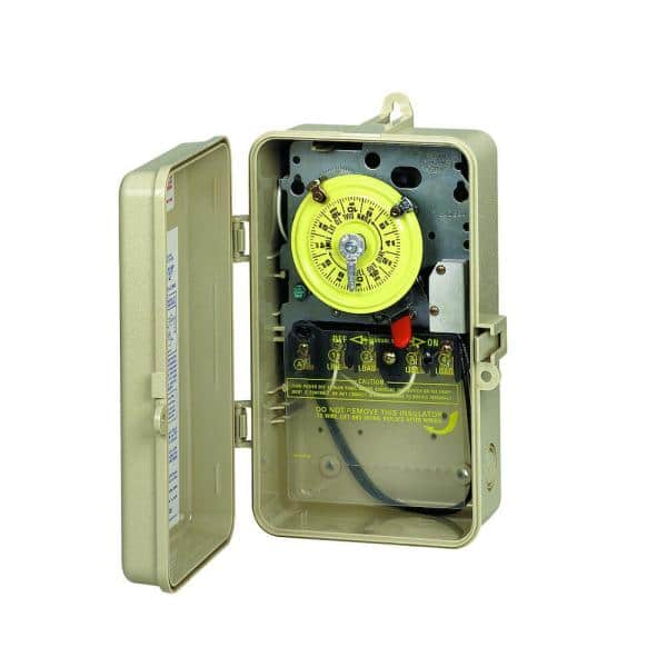 Intermatic T101r201 40 Amp 24 Hour Mechanical Time Switch With Outdoor Steel Enclosure And Pool Heater Protection T101r201 The Home Depot