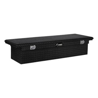 69 in. Aluminum Black Single Lid Crossover Tool Box with Low Profile