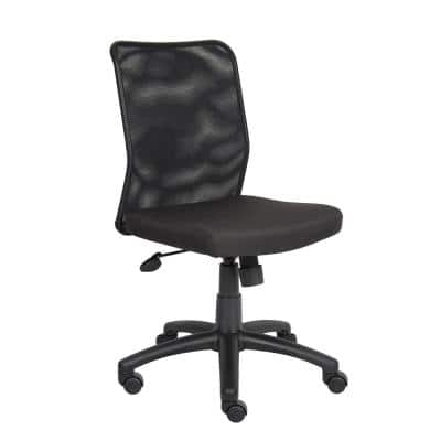25 in. W Black Big and Tall Fabric Task Chair with Swivel Seat