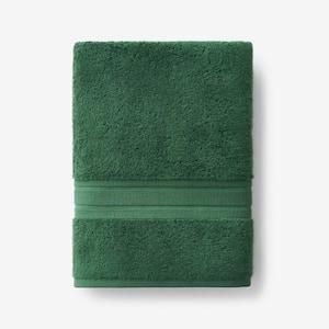 Company Cotton Bottle Green Solid Turkish Cotton Bath Towel