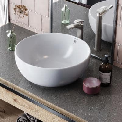 Sublime Round Vessel Sink in White