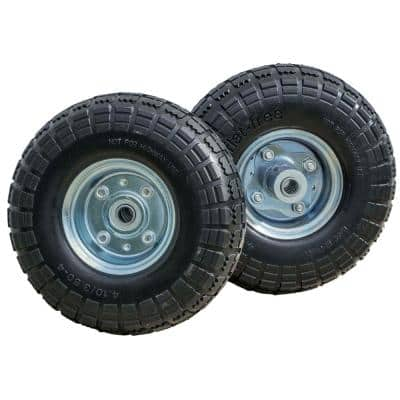 10 in. No Flat Tires (2-Pack)