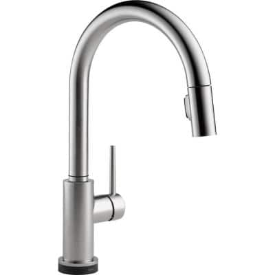 Trinsic Single-Handle Pull-Down Sprayer Kitchen Faucet with Touch2O Technology in Arctic Stainless