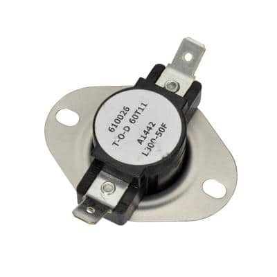 Snap Disc Thermostat, Open On Rise, Range 224/256°F