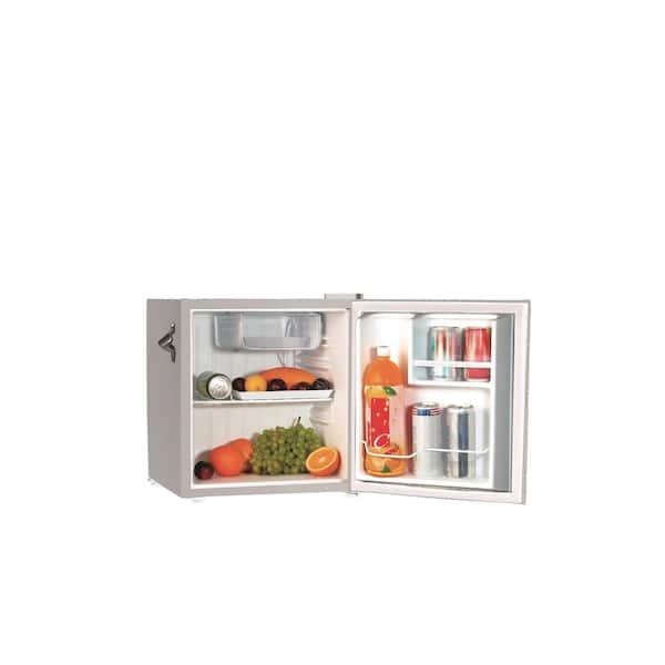 Frigidaire - 1.6 cu. Ft. Retro Mini Refrigerator in Silver Moonbeam