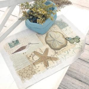 Shorebirds 14 in. x 20 in. Oyster Placemat (Set of 4)